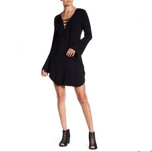 NWOT Lattice Black Dress